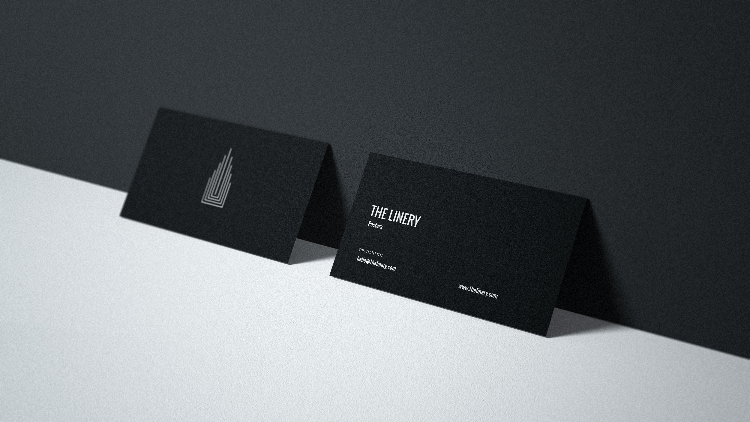 Business cards with branding
